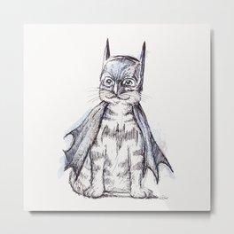 Bat Cat Metal Print
