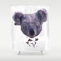 koala Shower Curtains featuring KOALA by MGNFQ