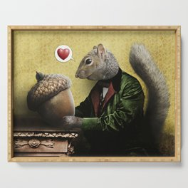 Mr. Squirrel Loves His Acorn! Serving Tray