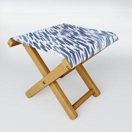 Boho Blue Brushstroke Folding Stool