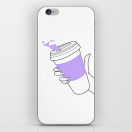 don't spill ! iPhone Skin