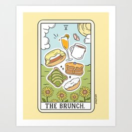 Brunch Reading Art Print
