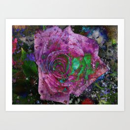 Rose Of Corrosion Art Print