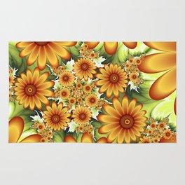 A Floral Dream Of Summer, Fractals Art Rug