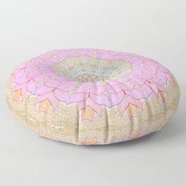 Lotus Blossom Mandala Floor Pillow