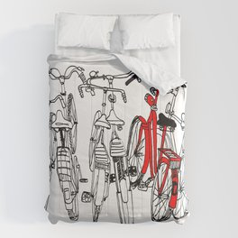 Red bike Comforters