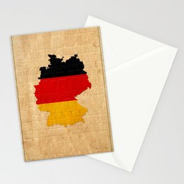 Map Of Germany 1630 Stationery Cards