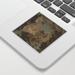 Allegory of the Planets and the Continents by Giovanni Battista Tiepolo Sticker