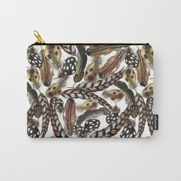Wild birds' feathers. Carry-All Pouch