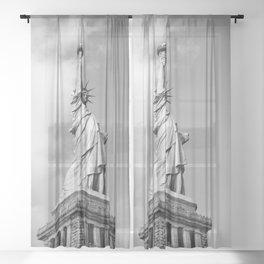 Lady Liberty - NYC Sheer Curtain