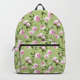 Peonies in Her Dreams - Light Green Backpack