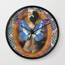 Morph into butterfly Wall Clock