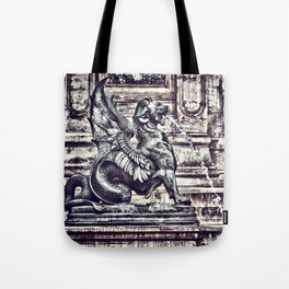 PARIS - Latin Quarter: Place St-Michel - La Fontaine St. Michel Tote Bag