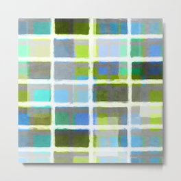 Rectangles in Blues and Greens Metal Print