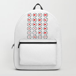 Guitar Shop Round Buttons Backpack