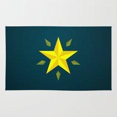 Gold Star/ Blue Rug