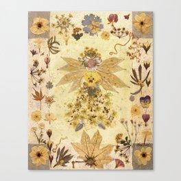 Pressed Flower Angel Canvas Print
