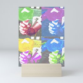 Colored ice creams Mini Art Print