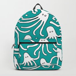 A Party of Handicapped Octopi III - Blue-isch Backpack
