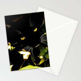 Cat hidden in the bushes  Stationery Cards