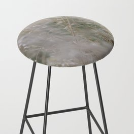 Tall wild grass growing in a meadow Bar Stool