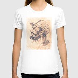 Portrait of Fidel Castro. Cuban politician, revolutionary, president of Cuba. T-shirt