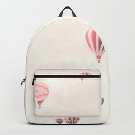 Hot Air Balloons, White Backpack