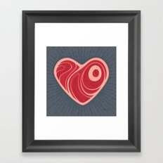 Meat Heart Framed Art Print