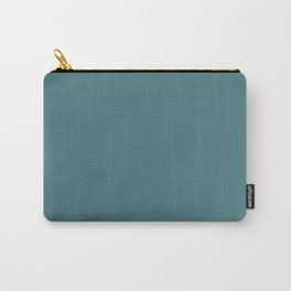 Peony Drama ~ Teal Coordinating Solid Carry-All Pouch