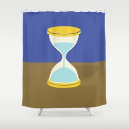 Time is Almost Up! Shower Curtain