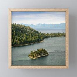 Fannette Island, Emerald Bay, Lake Tahoe Framed Mini Art Print