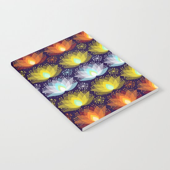 Variations on a Lotus I - Sparkle Brightly Notebook