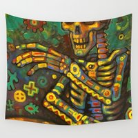 drums Wall Tapestries featuring Death Drums by Sherdeb Akadan