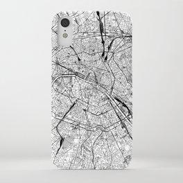 Paris White Map iPhone Case