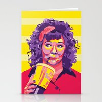 melissa smith Stationery Cards featuring Melissa McCarthy by Rudi Rodebush