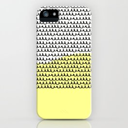 Black and Yellow Hand-Drawn Pattern iPhone Case