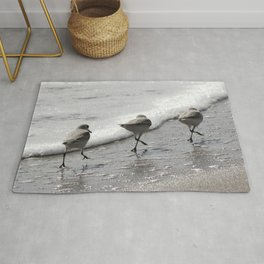 Sandpipers Birds on the Beach Rug