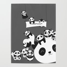Panda party Poster