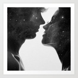 Couples of heaven. Art Print