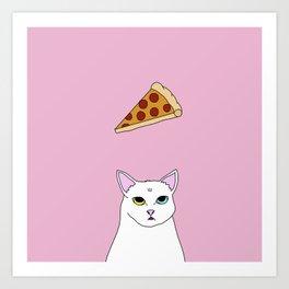 Fat D. Loves Pizza Art Print
