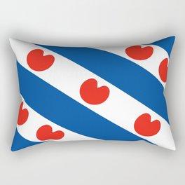 Frisian Friesland region netherlands country flag Dutch province Rectangular Pillow