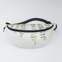 Pastel Green Botanical Watercolor Fanny Pack