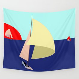 Sailing in May with May - shoes stories Wall Tapestry