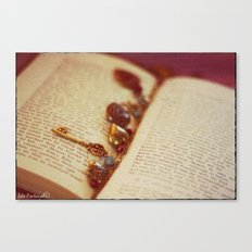 Let's read about love... Canvas Print