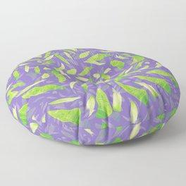 Green Splats on Purple Floor Pillow