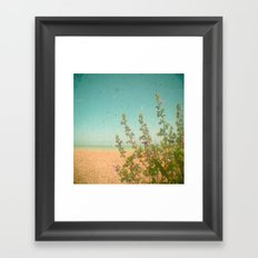 Flowers by the Sea Framed Art Print