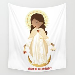 Our lady of Mercy Wall Tapestry