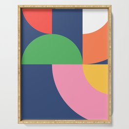 Abstract Geometric 16 Serving Tray