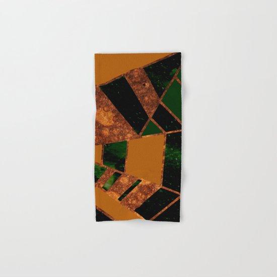 #455 Gold & Pothos Hand & Bath Towel