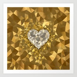 POLYNOID Heart / Gold Edition Art Print
